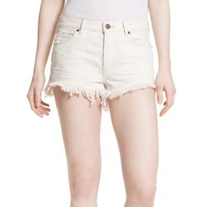 We The Free   button fly Cut off Denim Short